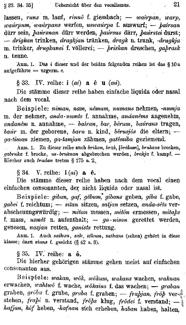 Braune\'s Gotische Grammatik