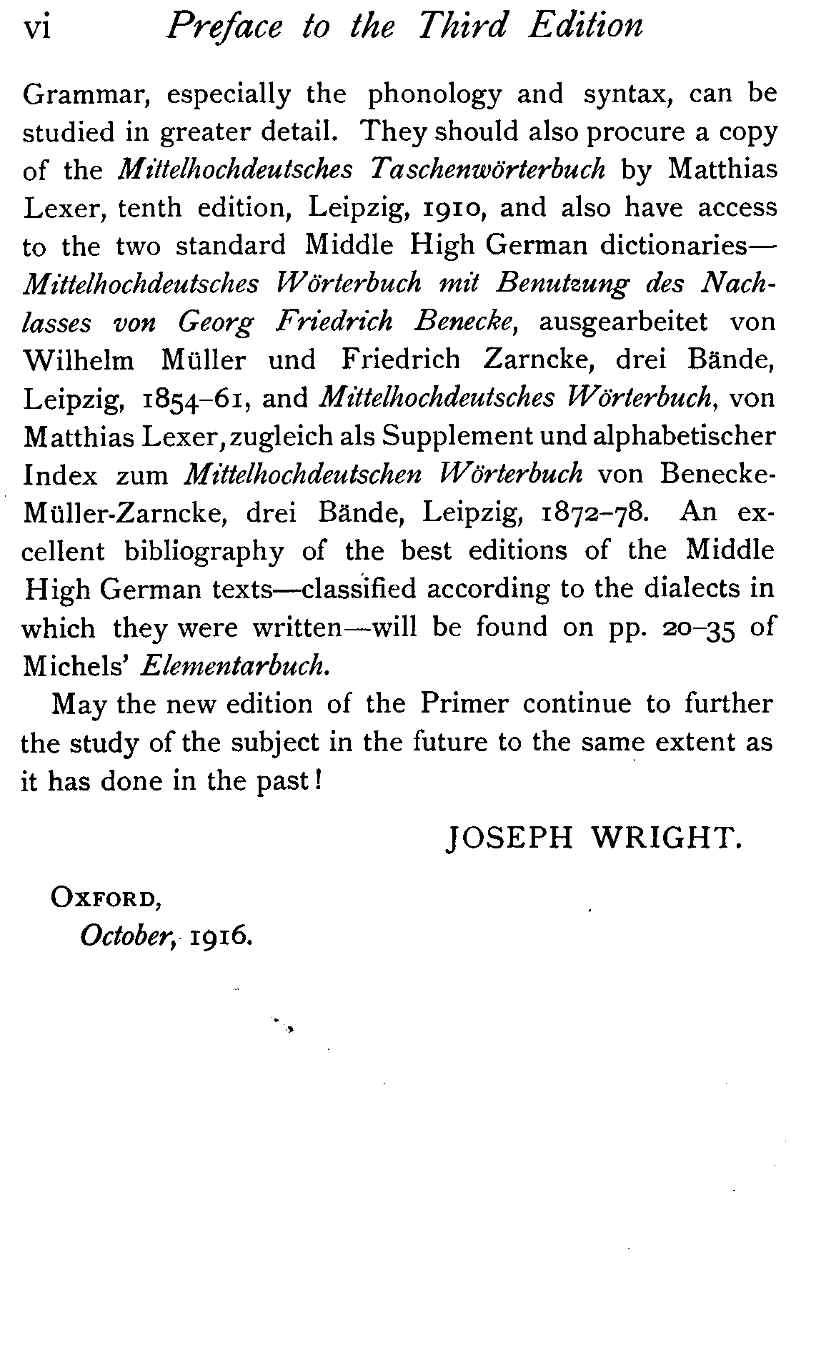 Wright's Middle High German Primer